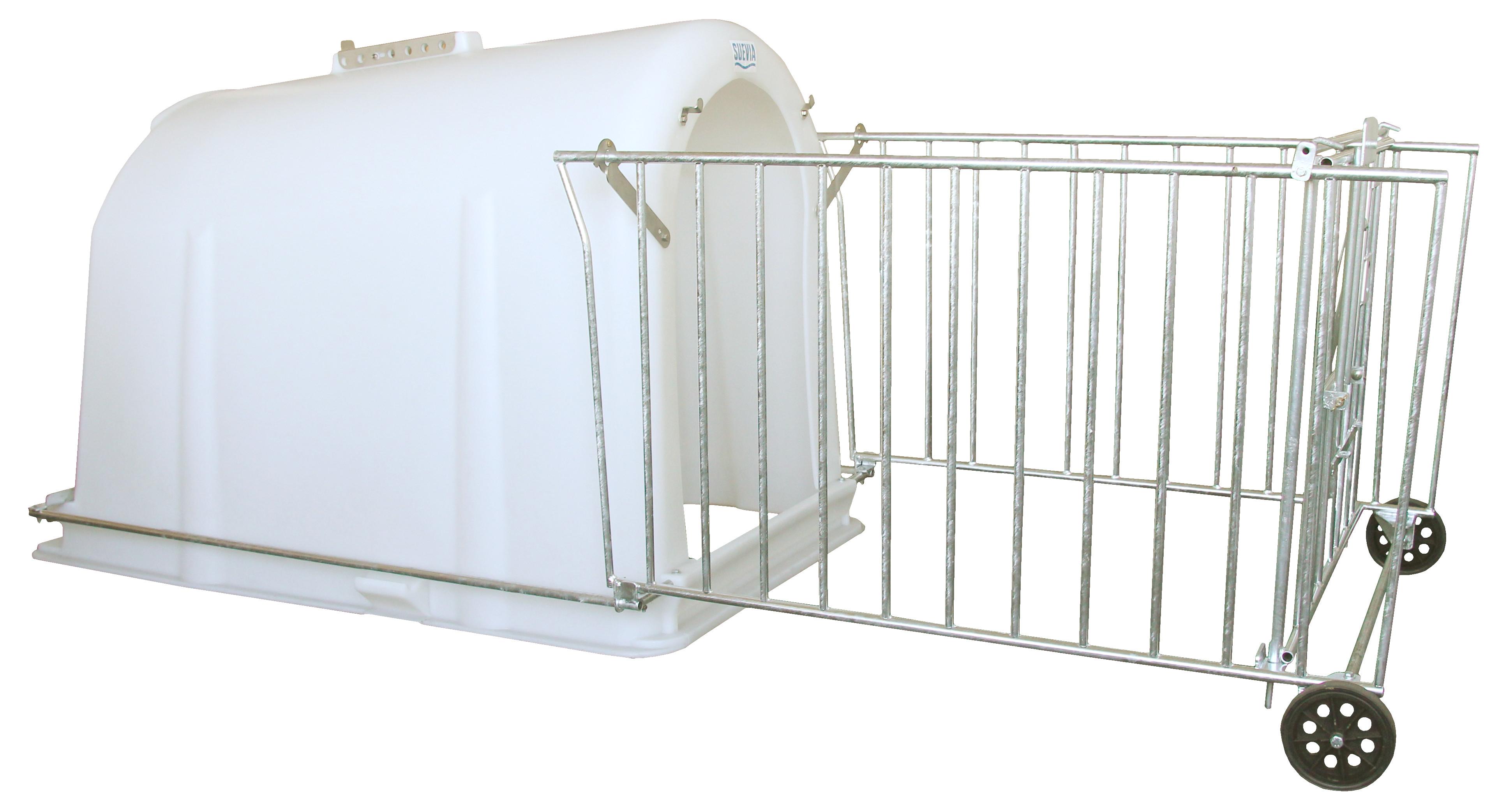 0-8 haftalık buzağı kulübesi -polietilen- tekerlekli çit