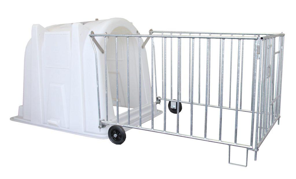 0-6 haftalık buzağı kulübesi- polietilen tekerlekli